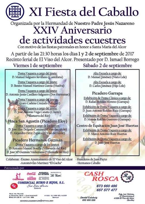Cartel Fiesta del Caballo 2017_CEV